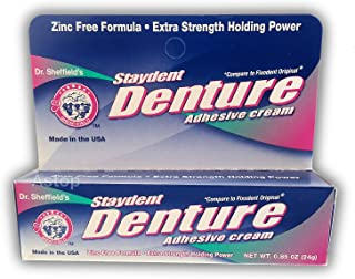 Staydent Denture Cream .85oz (Sold: 3 Units per Pack) by Sheffield Pharmaceuticals