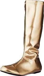 ec82b78115a7 Amazon.com  Gold - Knee-High   Boots  Clothing