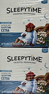 Celestial Seasonings Sleepy Time Extra Tea Herbal Caffeine Free, 80 Tea Bags