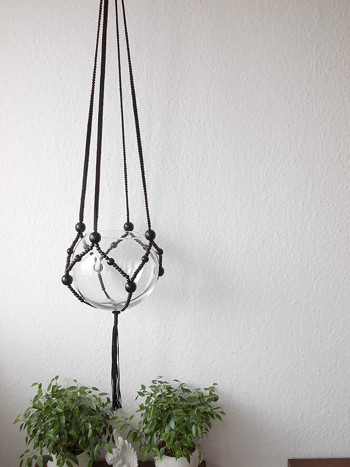 Macrame Plant hanger - Ranking TOP3 Brown black or beads New popularity