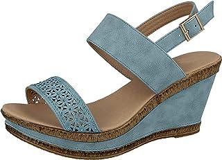 2f9dd40e266 Amazon.co.uk: Blue - Sandals / Women's Shoes: Shoes & Bags
