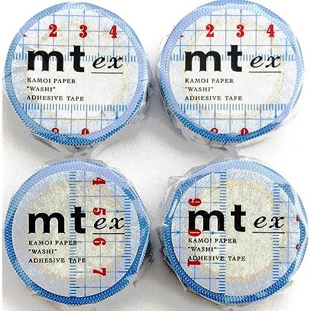 カモ井加工紙 マスキングテープ mt ex 定規 MTEX1P96 4個セット(ミニシール付き)