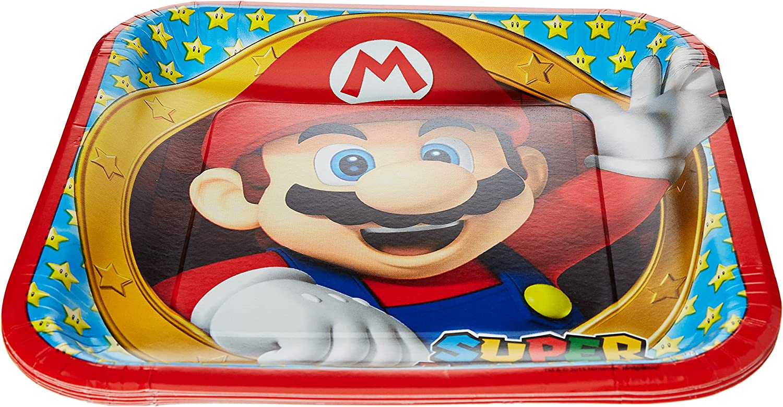 OFFicial shop amscan Super Mario BORDJES 8ST VARI - Spring new work