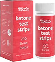 Kiss My Keto Strips — 200 Ketosis Test Strips for Low Carb Diets   Extra Long, Medical Grade Keto Urine Testing Strips   K...