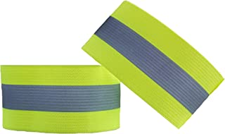 SeenFit High Visibility Reflective Sports Wrist Bands -Size to Fit- (Pair)