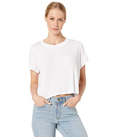 Splendid Studio Core Boxy Tee (White) Women