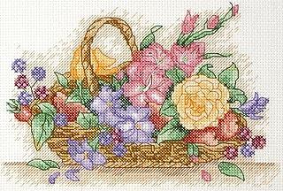 Anchor Kit Tapisserie sur Canevas pour débutants Motif Panier de Fleurs, Multicolore, Non