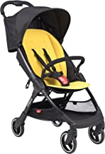 phil&teds Go Umbrella Travel Stroller, Lemon – Ultra Light (11lbs) – Compact, One Hand Stand Fold – Removable Bumper Bar – Removable and Reversible Seat Liner – Travel System Ready – Full Suspension