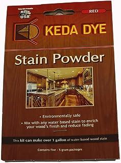 Red Dye by Keda Dye - (25) Grams of Red Wood Dye - Makes 5 Dye Stain Quarts