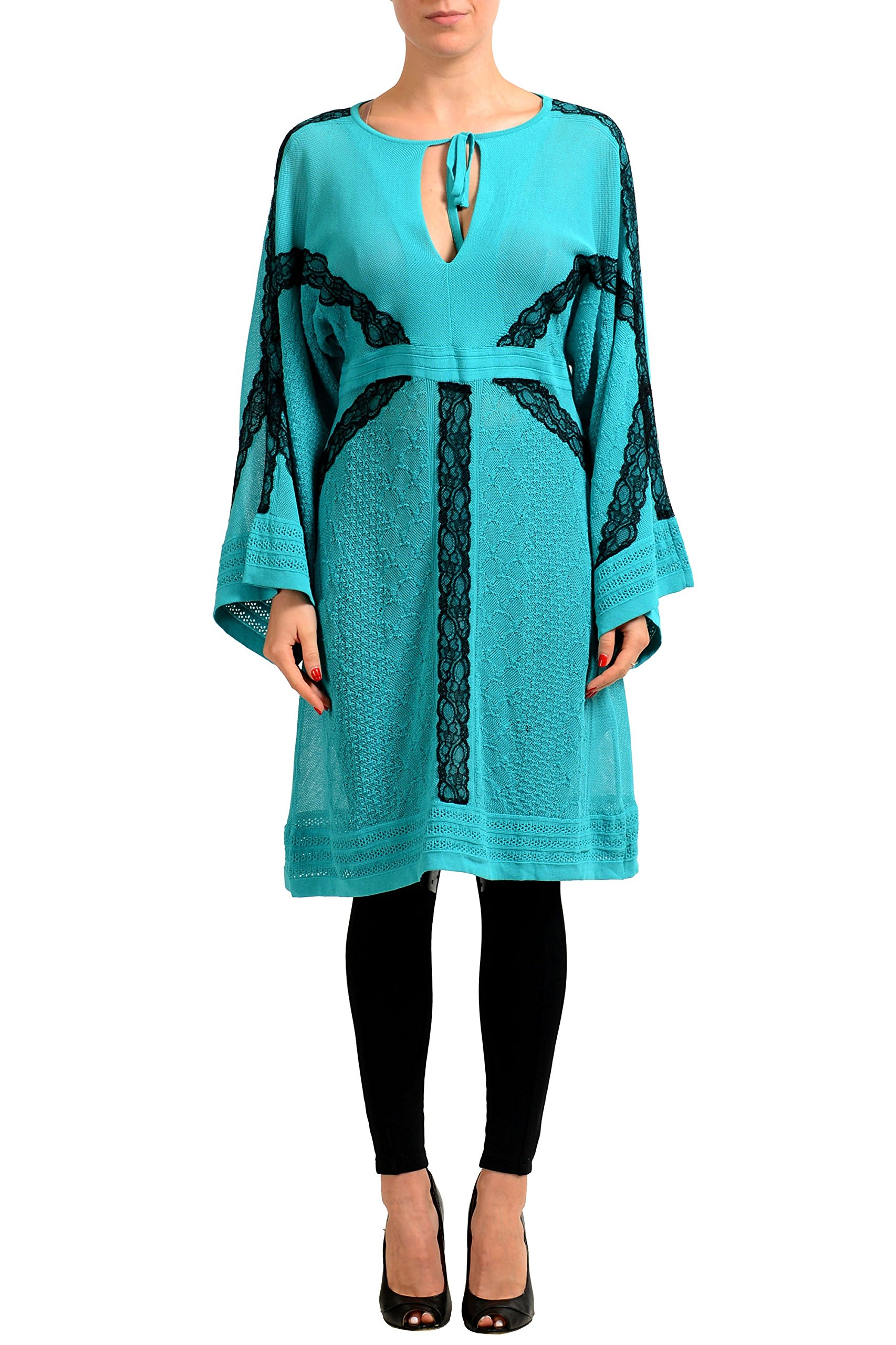 Available at Amazon: Just Cavalli Multi-Color See Through Women's Sweater Dress US S IT 40