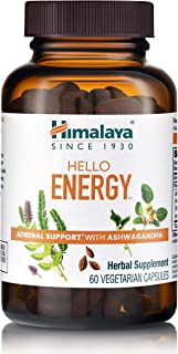 Himalaya Hello Energy for Stamina & Adrenal Support, 300 mg, 60 Capsules, 1 Month Supply