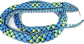 Lazada Snake Stuffed Animal Giant Boa Anaconda Plush Lifelike Toys for Kids Blue 67 Inches