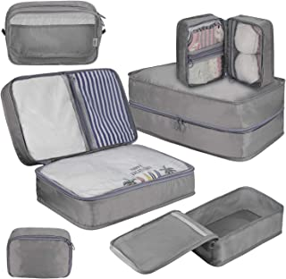 DIMJ Packing Cubes for Travel, 6 Pcs Travel Cubes for Suitcase Lightweight Travel Essential Bag...