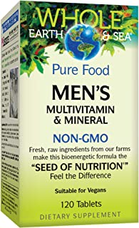 Natural Factors, Whole Earth & Sea, Men's Multivitamin & Mineral, Whole Food Supplement, Vegan, 120 Tablets (60 Servings)