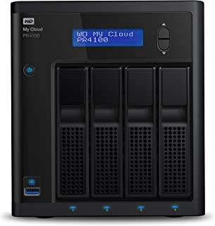 WD 32TB My Cloud PR4100 Pro Series Media Server with Transcoding, NAS - Network Attached Storage - WDBNFA0320KBK-SESN