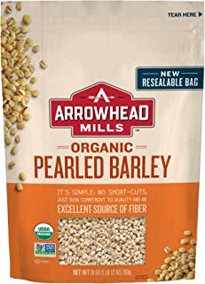 Arrowhead Mills Organic Pearled Barley, 28 oz. Bag (Pack of 6)
