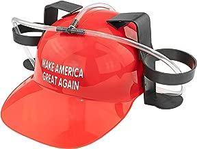 Fairly Odd Novelties Make America Great Again Beer & Soda Guzzler Helmet, Red Funny Trump Political Drinking Party Hat