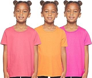 طقم قطني كامل للفتيات بدون ملصق شعار العلامة التجارية من هانس هانس (عبوة تحتوي على 3 قطع) GTU3AS
