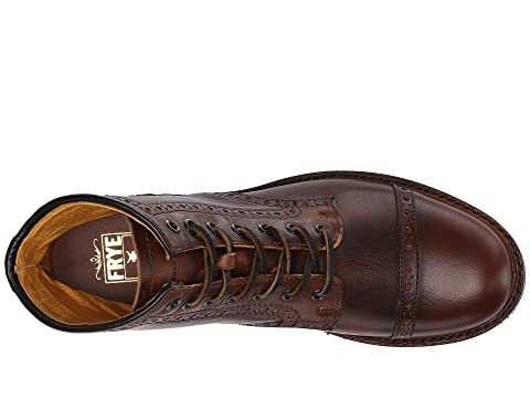 Frye Cap Cognac Pull Vintage Brogue Logan Toe Up vr8vq