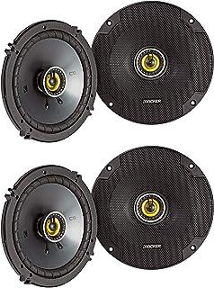 $152 » KICKER CSC65 CS Series 6.5 Inch 600 Watt 4 Ohm 2-Way Car Audio Coaxial Speakers System with Polypropylene Cone, PEI Tweete...