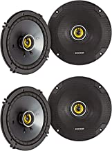 $138 » KICKER CSC65 CS Series 6.5 Inch 600 Watt 4 Ohm 2-Way Car Audio Coaxial Speakers System with Polypropylene Cone, PEI Tweete...