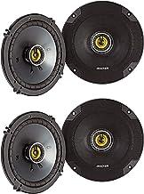 $171 » KICKER CSC65 CS Series 6.5 Inch 300 Watt 4 Ohm 2-Way Car Audio Coaxial Speakers System with Polypropylene Cone, PEI Tweete...