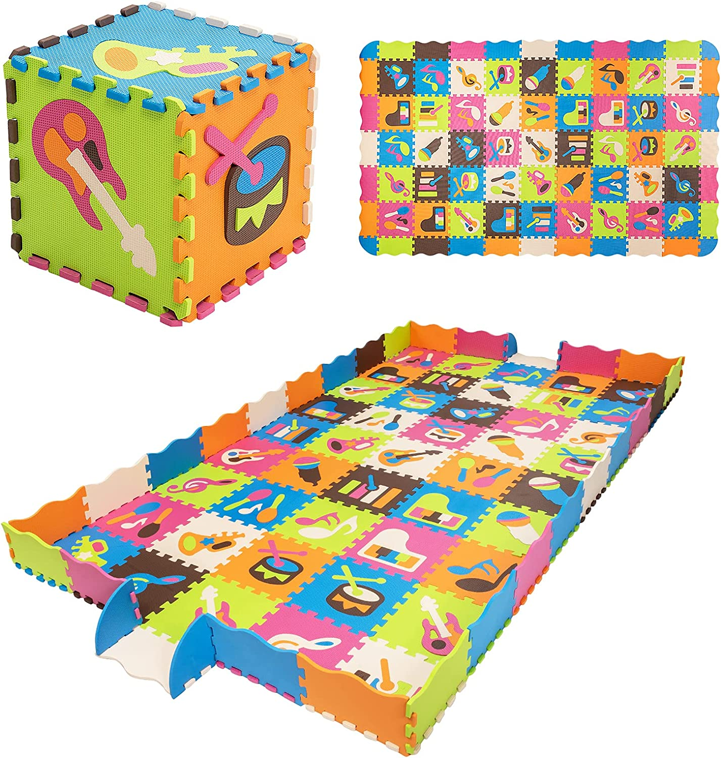 Costzon 125 Pieces Baby Daily bargain sale Play Mat 0.4'' EVA New products, world's highest quality popular! w F Thick Fence