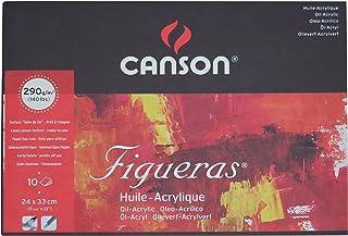 Bloc Encolado, 24X33 Cm, 10 Hojas, Canson Figueras, Grano Entelado 290G