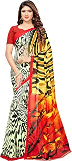 1 Stop Fashion Georgette Saree with Blouse Piece