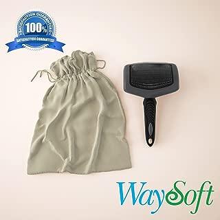WaySoft(TM Premium Professional Sheepskin Rug Brush