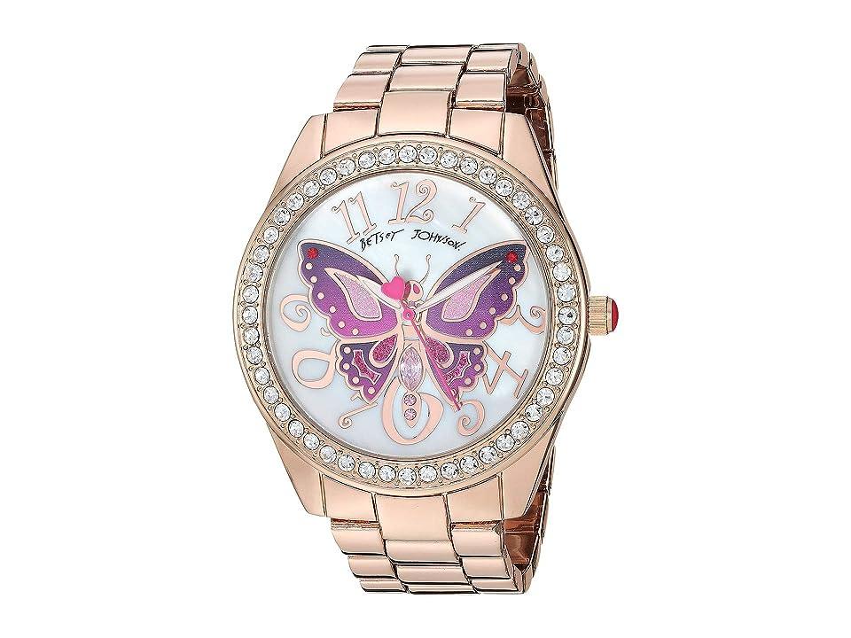 Betsey Johnson - Betsey Johnson 37BJ00249-65BX Pink Tone Butterfly