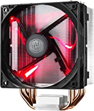 Cooler Master RR-212L-16PR-R1 Hyper 212 LED CPU Cooler with PWM Fan, Four Direct Contact Heat Pipes, Unique Blade Design and Red LEDs (Renewed)