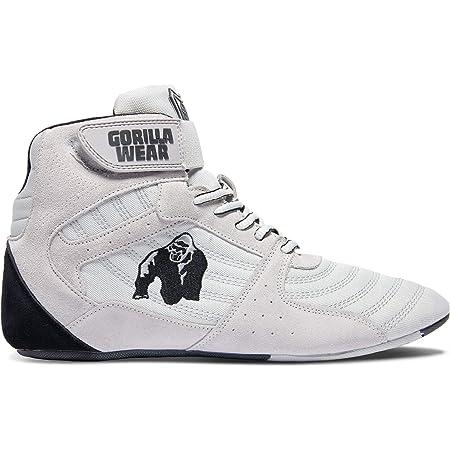 36 grau//schwarz//rot GORILLA WEAR Perry High Tops Pro Bodybuilding und Fitness Schuhe f/ür Damen und Herren
