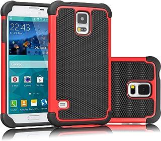 Tekcoo Galaxy S5 Case, [Tmajor] Sturdy Shock Absorbing Hybrid Rubber Plastic Impact Defender Rugged Slim Hard Case Cover B...