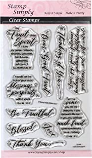Stamp Simply Clear Stamps Fruit of The Spirit Christian Religious 4x6 Inch Sheet - 10 Pieces