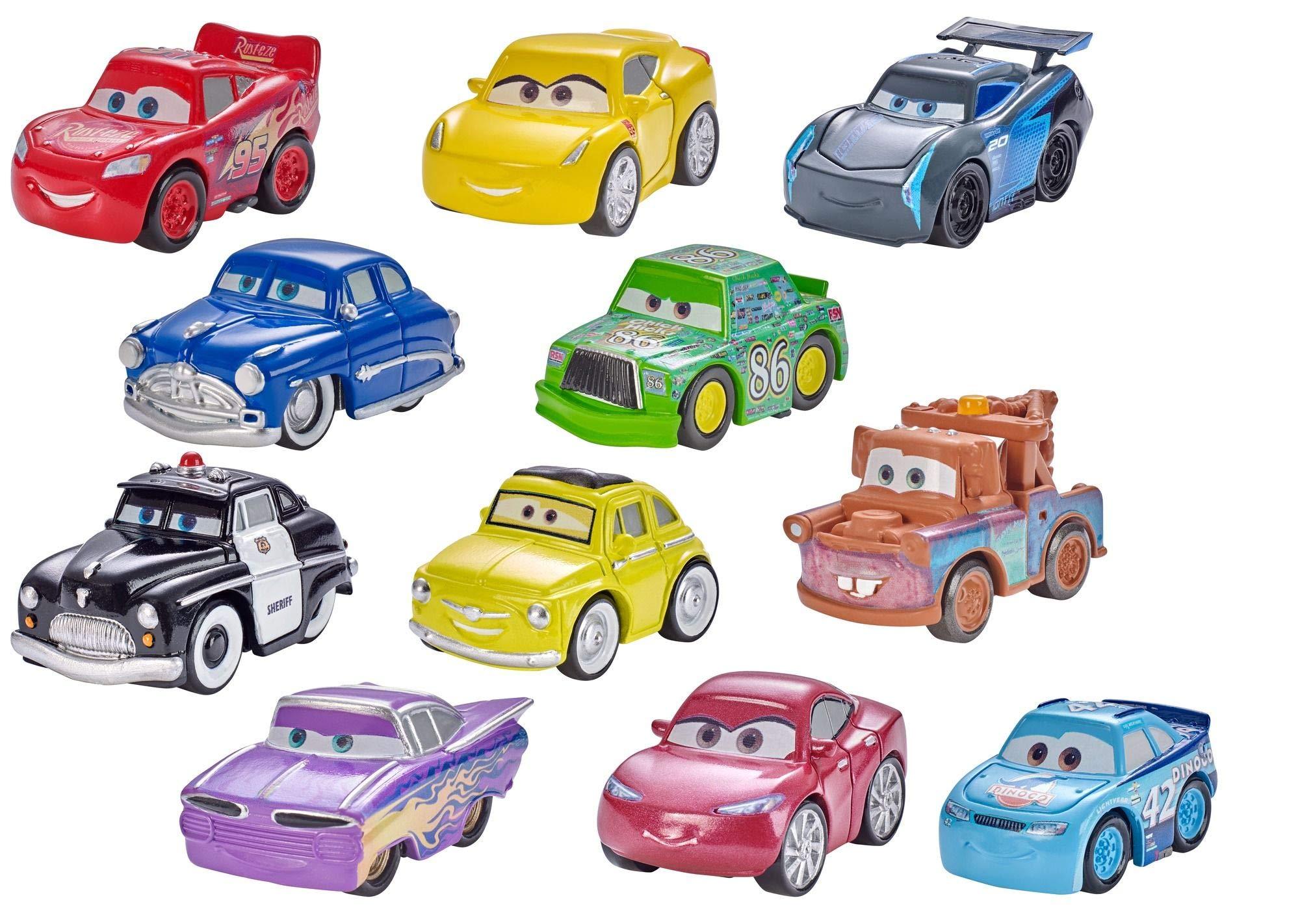 Mattel Disney Pixar Cars, 1 vehículo Mini Racers metal, 1 póster, surtido: modelos aleatorios: Amazon.es: Juguetes y juegos