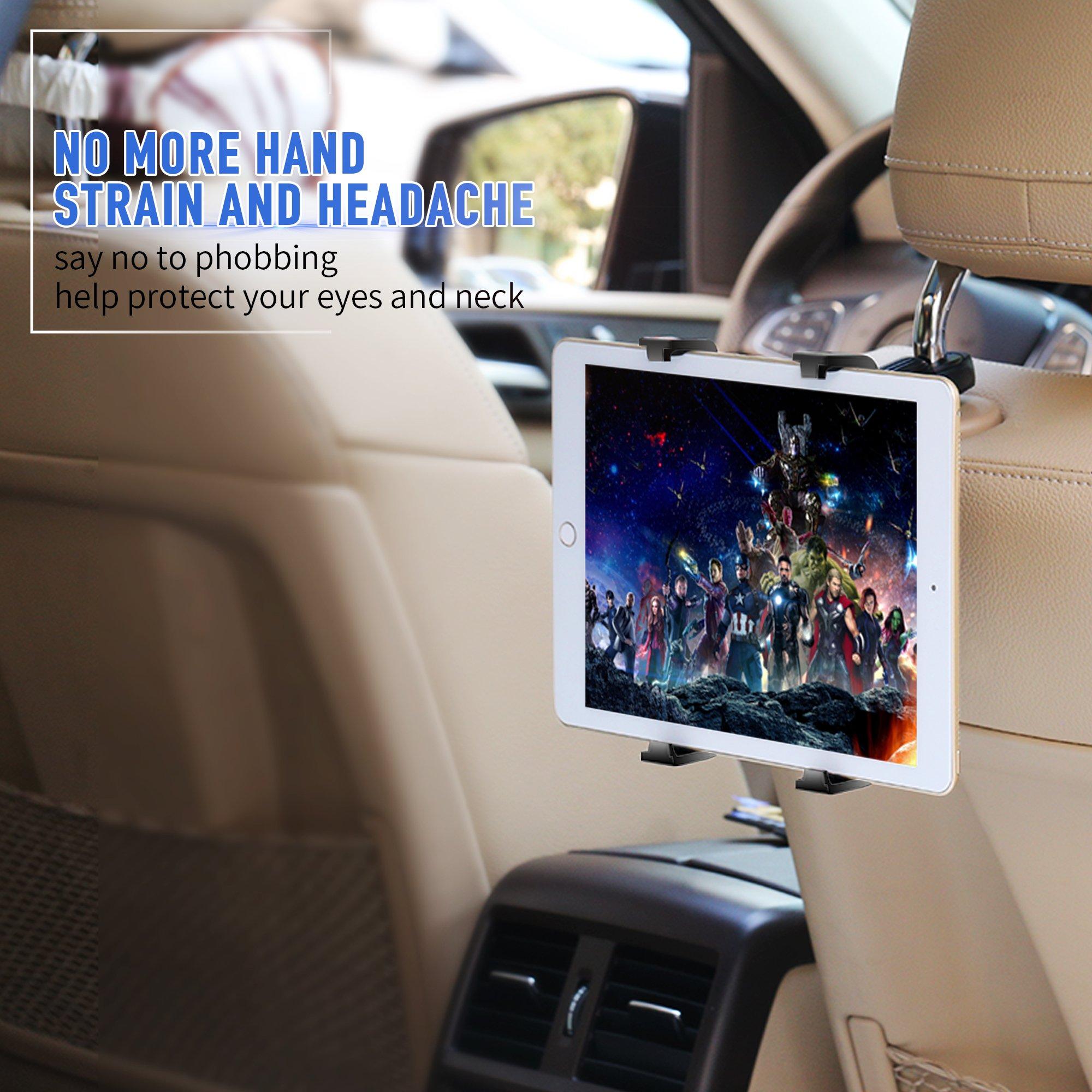 Yoassi Soporte de tableta ajustable, soporte de coche para iPad ...