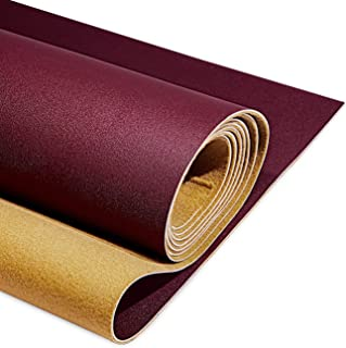 """PU Fabric Leather 2 Yards 54"""" x 72"""", 1.25mm Thick Faux Synthetic Leather Material Sheets for Upholstery Crafts, DIY Sewing..."""