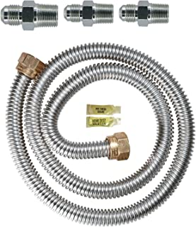 Dormont 30-3131KIT-48 48 in. Long 5/8 in. Outlet Diameter Gas Range Connector Kit, 1 pack, Yellow Coated