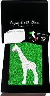 Giraffa Fatta a Mano in Pietra Leccese - Simbolo di Bellezza Eleganza Lungimiranza Protezione e Gentilezza dello Spirito -...