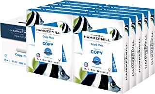 Hammermill Printer Paper, 20 lb Copy Plus, 8.5 x 11 - 10 Ream (5,000 Sheets) - 92 Bright, Made in the USA