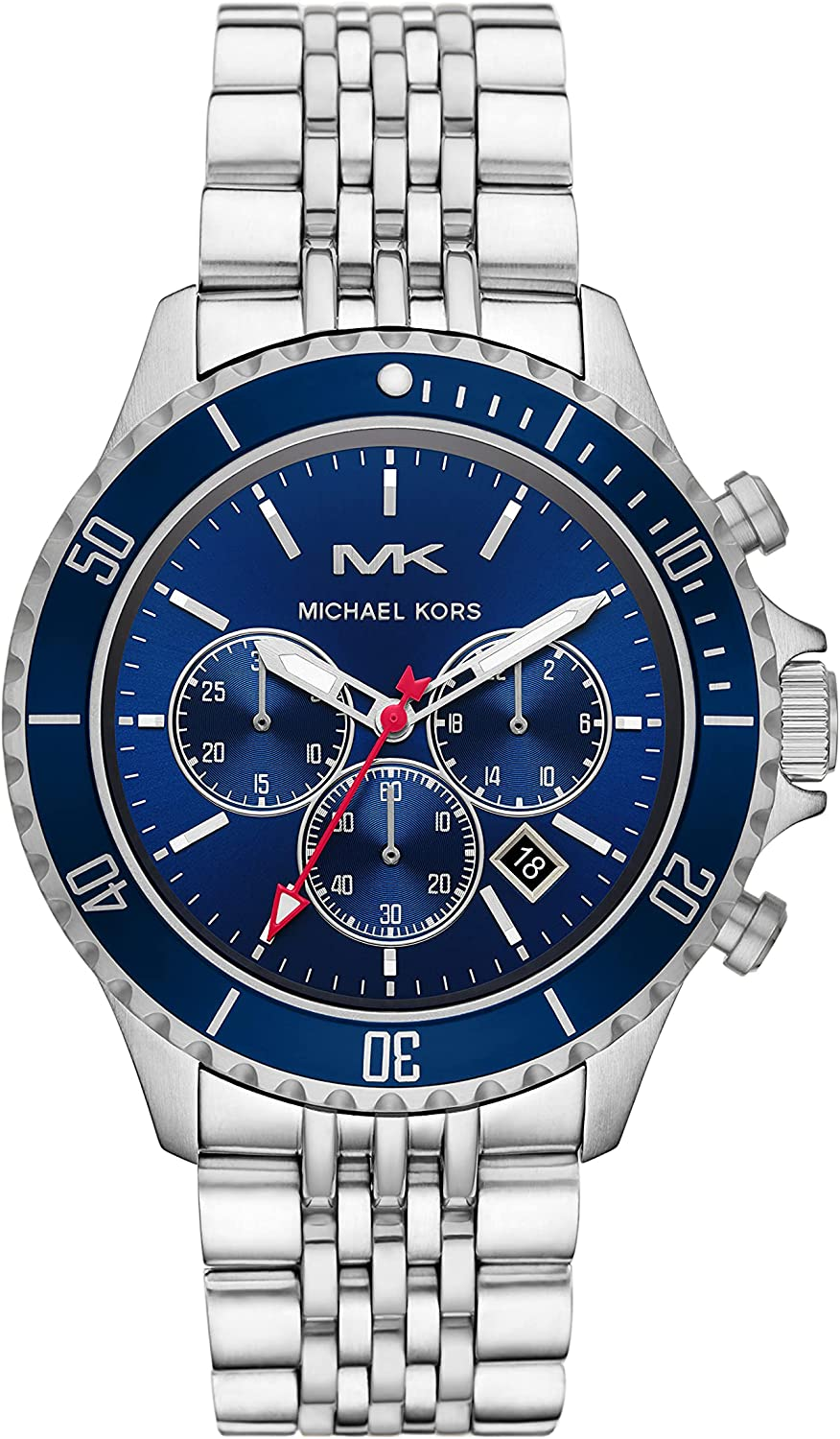 Michael Kors Bayville Chronograph 1 year warranty Steel Low price Stainless Watch