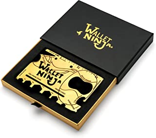 Wallet Ninja GOLD (Limited Edition) 18 in 1 Multi-Purpose Credit Card Sized Multi-Tool with Gift Box and Certificate of Authenticity