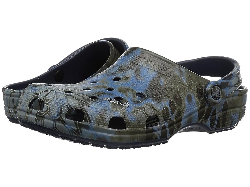 Crocs Classic Kryptek Neptune Clog (Navy) Clog Shoes