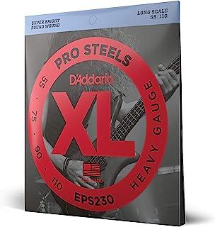 D'Addario ProSteels EPS230 Cordes longues pour basse Lourd 55-110