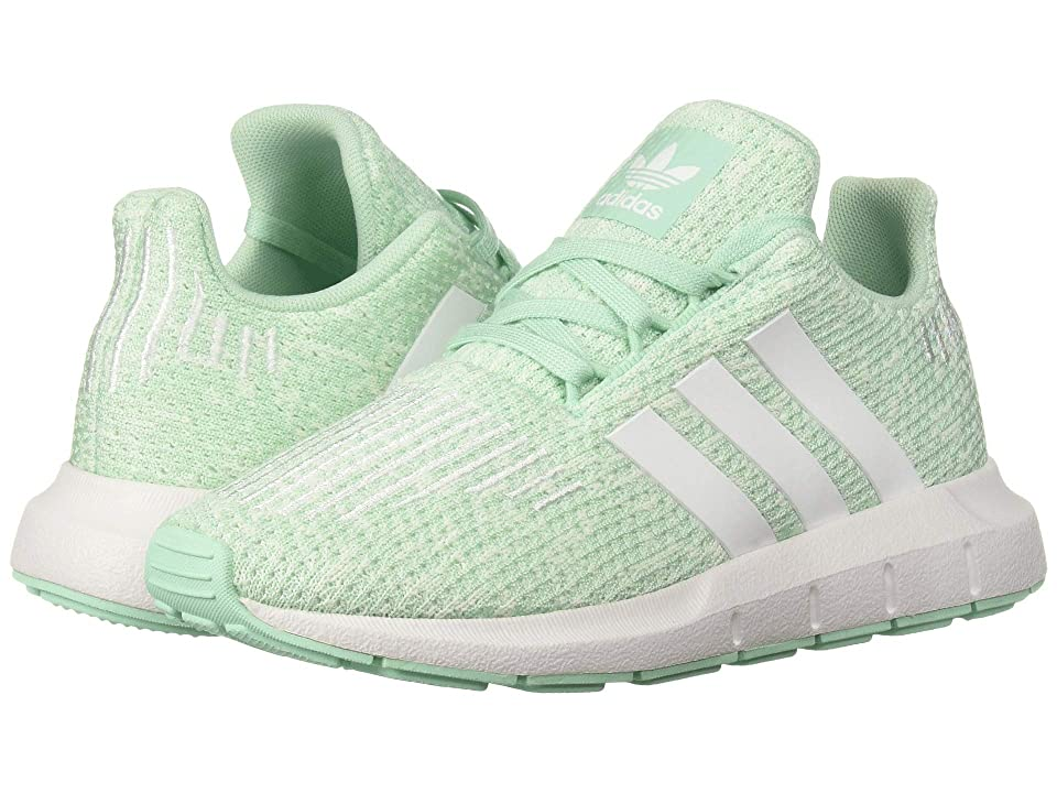 adidas Originals Kids Swift Run C (Little Kid) (Clear Mint/White/Aero Green) Girls Shoes