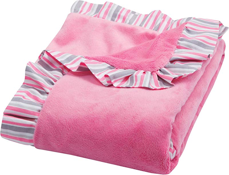 Trend Lab Ruffle Receiving Blanket Pink Lily