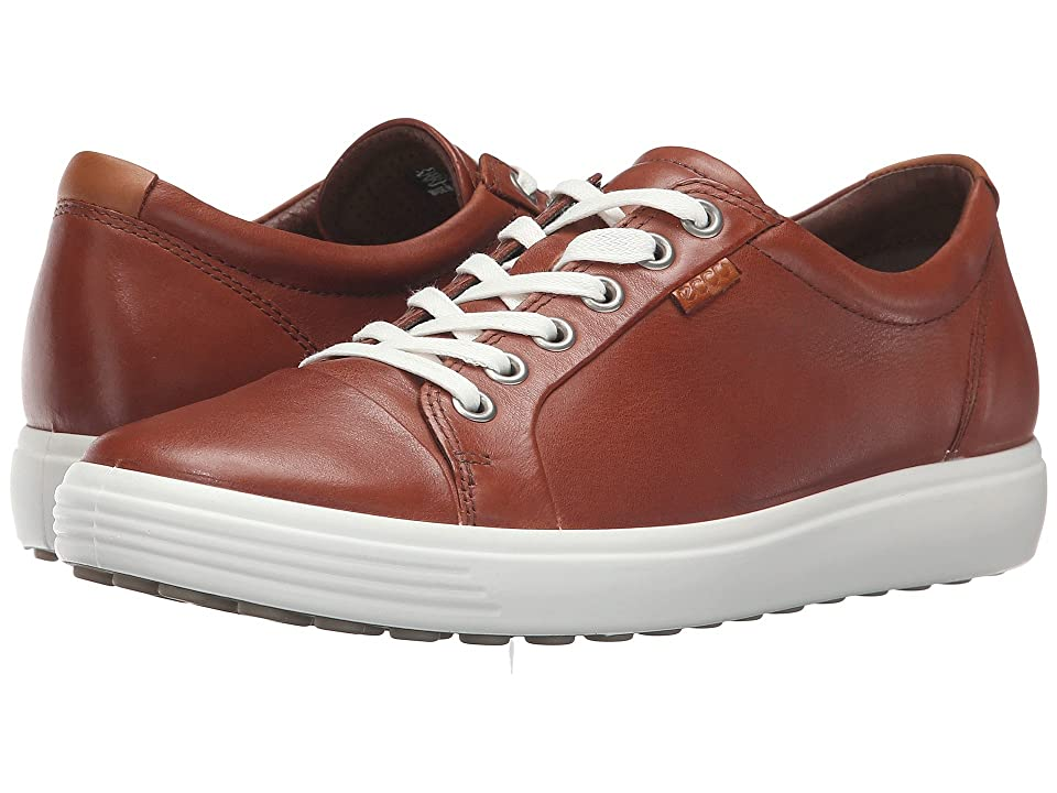 ECCO Soft 7 Sneaker (Mahogany) Women