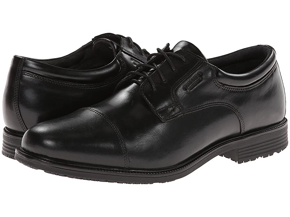 Rockport Lead The Pack Cap Toe (Black WP Leather) Men