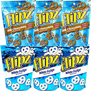 Flipz Pretzels Variety Pack, 3.25 (Pack of 6) (Variety Pack, 6 Pack (3.25 Ounce))